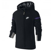 Nike Brushed Fleece Full-Zip Little Girls' Hoodie