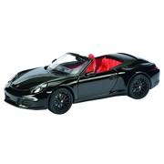 Schuco 450758700 - Porsche 911 Carrera 4 Cabrio Gts, 01:43, automobili e modello di traffico, nero