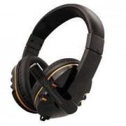 Phoenix Hydra Auriculares de diadema cerrados con micrófono, color negro
