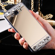 Husa de protectie silicon KissCase Diamond pentru Samsung A3 (2016), Auriu