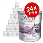 Voordeelpakket Little Wolf of Wilderness 24 x 800 g Hondenvoer - Wild Hills Junior - Eend & Kalf