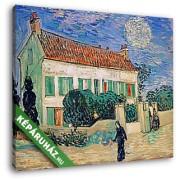 Vincent Van Gogh: Fehér ház este (30x25 cm, Vászonkép )
