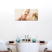 Foto op aluminium - wit (60x30cm)