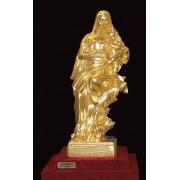 """Ръчно изработена статуетка с 22 карата златно покритие """"Богородица с младенеца"""" (A063)"""