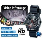 OctaCam Montre-caméra Full HD 8 Go avec vision nocturne