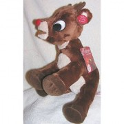 Musical 12 Soft Plush Rudolph the Red Nosed Reindeer Doll - Plays Music