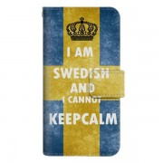 Samsung galaxy a3 (2017) plånboksfodral keep calm swedish