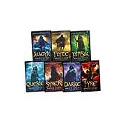 Angie Sage Septimus Heap 7 Books Collection Set RRP: £54.93 (Darke Syren Queste Physik Flyte Magyk Fyre)