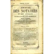 Journal Des Notaires Et Des Avocats. Cahier N°11, Tome Xcii - 54e Année