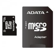 AData Micro-SDHC 16GB Class 4, SD Adapter