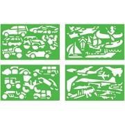 Quercetti 02604 - Gioco Stencils Vehicles