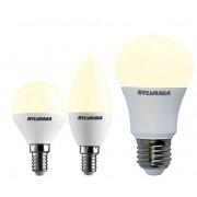 Sylvania LED Glühlampe in Tropfenform mit 4W, E14, 250lm, 2700K, matt