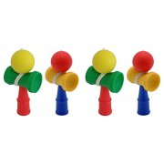 Kendama Iwako Japanese Toy Eraser, 4 Pieces, 38243
