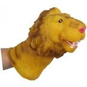 Childrens Home New Design VINYL Lions Head Shape Hand Puppet Toys Simulation Animal Head Children Toys