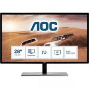 "AOC U2879vf 28"" 4k Ultra Hd Tft Nero Monitor Piatto Per Pc 4038986185714 U2879vf 10_0g30260"