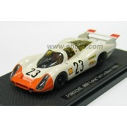 EBBRO 1/43 Porsche 908 Long Tail Le Mans 1969 # 23 White / Orange (japan import)