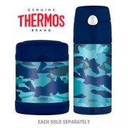 Thermos Stainless Steel Kids Blue Camo Funtainers