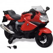 vidaXL Детски електрически мотор BMW 283 - червен 6 V