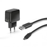 Incarcator retea SBS 1000mAh + cablu microUSB black