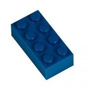 Q-Bricks 4 x 2-Stud Building Blocks flojo Pack (250 piezas, azul)