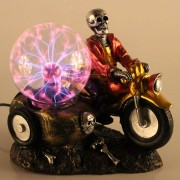 Globo de Plasma Halloween Caveira Motoqueira