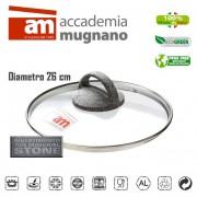 Coperchio in vetro 26 cm Accademia Mugnano Linea CUORE DI PIETRA Mineral Stone
