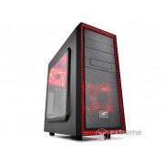 Carcasa DeepCool Tesseract SW red ATX, negru/rosu