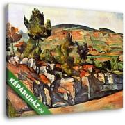 Paul Cézanne: Hegy Provenceban (30x25 cm, Vászonkép )