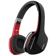 MEE audio Rumble AF80 Enhanced-Bass Bluetooth Wireless Stereo Headphones with Headset Functionality (Black/Red)