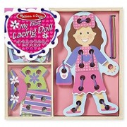 Melissa & Doug My First Lacing Doll With 16 Pieces of Clothing and 3 Laces