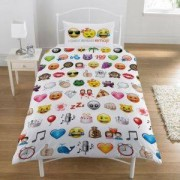B&Q I Only Speak Emoji Multicolour Single Duvet Set