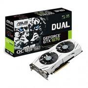Asus DUAL-GTX1070-O8G Carte graphique Nvidia GeForce GTX 1070, 1771 MHz OC, 8GB GDDR5X 256 bit