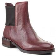 Clarks Botki CLARKS - Marquette Wish 261129304 Wine Leather