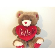 Sweetheart Teddy Ultra-Plush Valentine's Day Teddy Bear Gift - Brown & Red