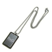 Dolce & Gabbana Unisex Brown Leather & Silver Plate Necklace DJ0139