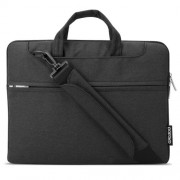 POFOKO Seattle 11.6 inch Portable One Shoulder Quality Fabric Waterproof Laptop Bag for Laptop Notebook(Black)