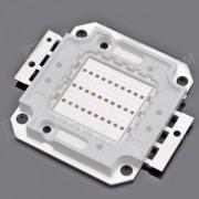 30W 2000lm 635-700nm Square LED Red Light Module (22~24V)