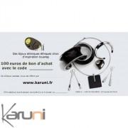 Chèque cadeau Karuni Chèque Cadeau en ligne bijoux décoration boutique Karuni - 100 euros ( chèque cadeau éthique 100 euros )