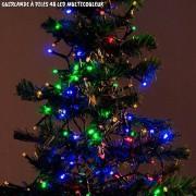 Guirlande de noël à piles multicouleur 48 LED