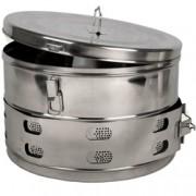 cestello drum in acciaio inox - autoclavabile - ø39x25cm