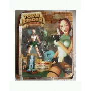 "New 7"" Tomb Raider Lara Croft and Crocodile action figure set by Square Enix"