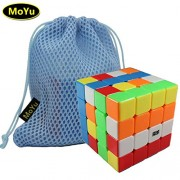 MoYu AOSU 4x4 4 Layers Magic Cube Professional Speed Puzzle Cube Brain Teasers Game Stickerless With a Cube Bag MOYU AOSU 4x4 4 capas cubo mágico Puzzle Cubo rompecabezas juego profesional de velocidad con un cubo stickerless Bolsa