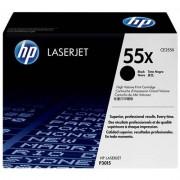 HP 55X svart LaserJet-tonerkassett med hög kapacitet, original