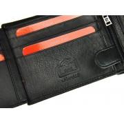 Hexagona Pánská kožená taška přes rameno Hexagona 854019 - černá