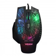 Mouse, VCom, Optical, Gaming, 2400dpi, Color Leds, USB (DM418)