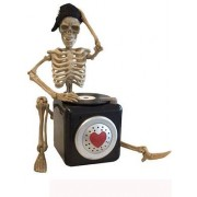 Vegaoo DJ Skelett - Dekoration som rör sig och spelar musik till Halloween 25 cm One-size