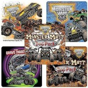 Monster Jam Truck Trios Stickers - Prizes and Giveaways - 75 per Pack-Each sticker features a team of trucks in Monster