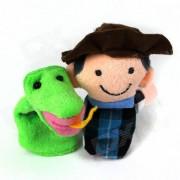 Pum?n Farmer + Serpiente Puzzle Juguetes educativos de la manga del dedo lindo - multicolor