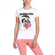 Bravado Green Day Road Kill Camiseta para mujer, color blanco, talla W42/ L30