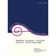 Abelian Groups, Module Theory, and Topology by Dikran N. Dikranjan